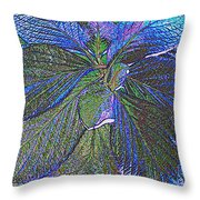 Leaves Of Blue Throw Pillow