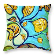 Leaves Of Hope Throw Pillow