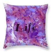 Leaves Of Life Throw Pillow