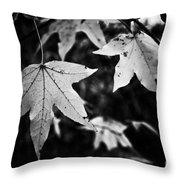 Leaves Without Color Throw Pillow