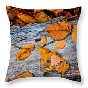 Leaves3 Throw Pillow