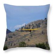 Leaving Midway  Throw Pillow