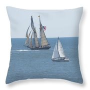 Leaving Newport Throw Pillow