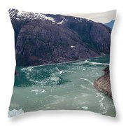 Leconte Glacier Throw Pillow by Mike Reid