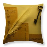 Ledgers And Keys Throw Pillow
