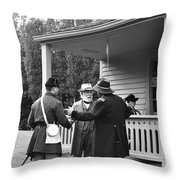 Lee And Grant Throw Pillow by Thomas R Fletcher
