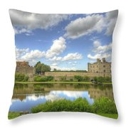 Leeds Castle Reflected Throw Pillow