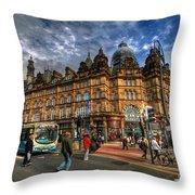 Leeds Kirkgate Market Throw Pillow