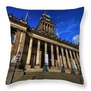 Leeds Town Hall Throw Pillow