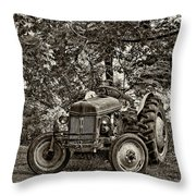 Left Fielder Sepia Throw Pillow