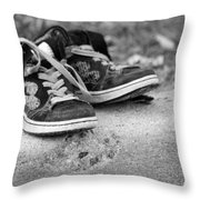 Left On The Curb Bw Throw Pillow
