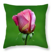 Left Standing Alone Throw Pillow