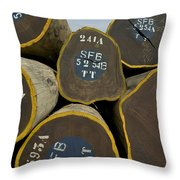 Legally Logged Trees Drc Throw Pillow
