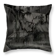 Legend Of The Old House In The Swamp Throw Pillow
