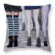 Legs Throw Pillow by Jutta Maria Pusl