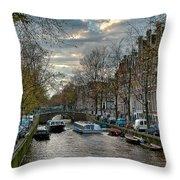 Leidsegracht. Amsterdam Throw Pillow