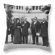 Leland Stanford (1824-1893) Throw Pillow