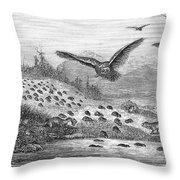 Lemming Migration Throw Pillow