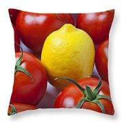 Lemon And Tomatoes Throw Pillow
