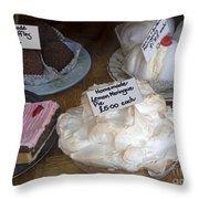Lemon Pie And Pastries Throw Pillow