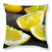 Lemon Quarters Throw Pillow