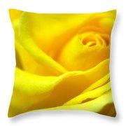 Lemon Yellow Rose Throw Pillow