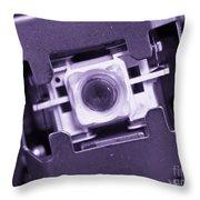 Lens Of A Cd Player Throw Pillow