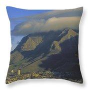 Lenticular Cloud Over Table Mountain Throw Pillow