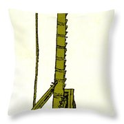 Leonardo Da Vincis Lifting Gear Throw Pillow