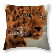 Leopard - Featured In The Group Wildlife Throw Pillow