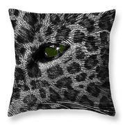 Leopard Within Throw Pillow