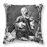 Leopold Mozart (1719-1787) Throw Pillow