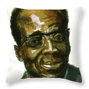Leopold Sedar Senghor Throw Pillow