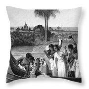 Leper, 1837 Throw Pillow