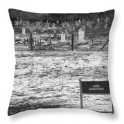 Leper Graveyard On Robben Island Throw Pillow