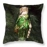 Leprechaun Christmas Ornament Throw Pillow