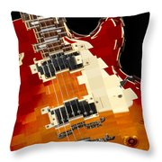 Classic Guitar Abstract Throw Pillow