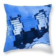 Abstract Guitar In Blue 2 Throw Pillow