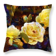 Les Roses Sauvages Throw Pillow