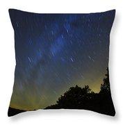 Letchworth Star Trails Throw Pillow