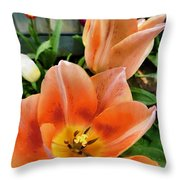 Lets All Dance For The Tulips Are Out Throw Pillow