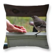 Lets Eat Throw Pillow