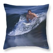 Let's Go Surfing Throw Pillow