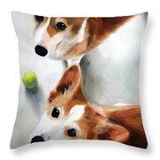 Let's Play Please Throw Pillow