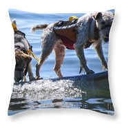 Let's Surf Dude Throw Pillow
