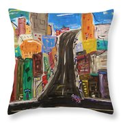 Let's Turn Up This Street Throw Pillow