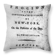 Letter From Phocion, 1784 Throw Pillow