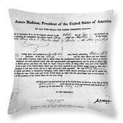 Letter Of Marque, 1812 Throw Pillow
