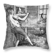 Letter Press Printer, 1807 Throw Pillow