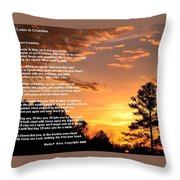 Letter To Grandma Throw Pillow